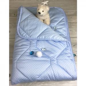 Одеяло  покрывало Premium Горошки 145х205 см Soni Kids
