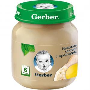 Пюре  нежные овощи с кроликом 6 месяцев, 130 г Gerber