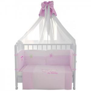 Комплект в кроватку  Белые кудряшки 120х60 (7 предметов) Fairy