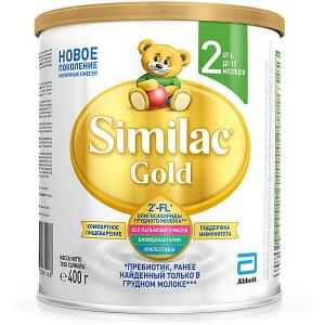 Молочная смесь  Gold 2, с 6 мес, 400 г Similac