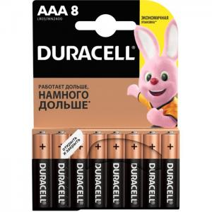 Батарейка алкалиновая Basic AAA (LR03) 8 шт. Duracell