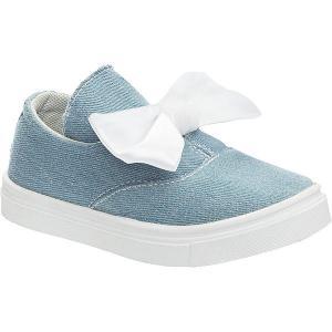 Слипоны  для девочки Crosby. Цвет: голубой