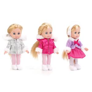, Кукла Hello Kitty Машенька в зимней одежде с аксесс.,15 см. ассорт. Карапуз