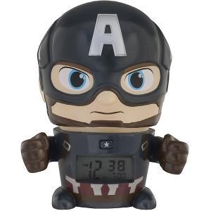 Будильник Kids Time BulbBotz Marvel «Капитан Америка» минифигура Детское время. Цвет: черный