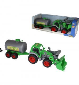 Игровой набор  Трактор-погрузчик с цистерной Фермер-техник Wader