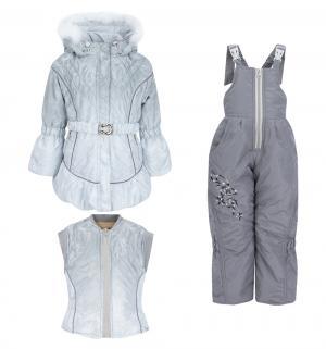 Комплект куртка/жилет/полукомбинезон  Инна, цвет: серый Alex Junis
