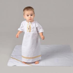 Комплект для крещения мальчика 2 предмета (рубашка, пеленка) Pituso