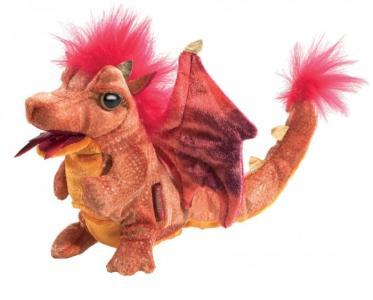 Мягкая игрушка  Дракон огненный 15 см Folkmanis