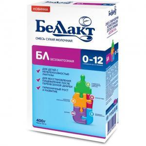 Молочная смесь  БЛ безлактозная 0-12 месяцев, 400 г Беллакт