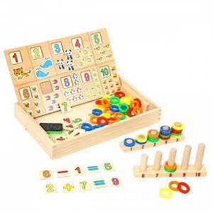 Деревянная игрушка  Логическая игра Веселый счет 2в1 Фабрика фантазий