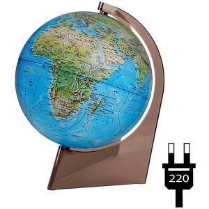 Глобус Земли «Двойная карта» с подсветкой на треугольнике Глобусный Мир