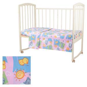 Комплект постельного белья  Котята и цыплята, цвет: розовый 3 предмета Baby Nice