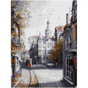 Картина по номерам с цветной схемой на холсте Ушедшая Москва 40х30 см Molly