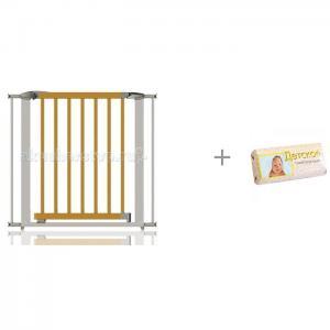 Ворота безопасности Swing Shut Gate 72,5-95 см CL132 (серебро) и мыло детское Свобода Clippasafe
