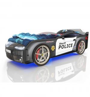 Кровать-машинка  Kiddy Полиция, цвет: черный Romack