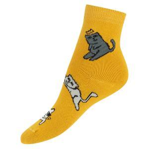 Носки  Коты, цвет: желтый Mark Formelle