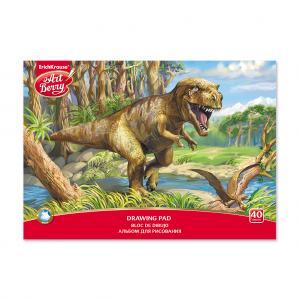 Альбом для рисования А4 40л  на клею Эра динозавров ArtBerry