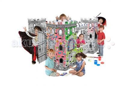 Игровой домик Картонный раскраска Крепость CartonHouse