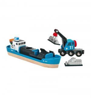 Игровой набор  корабль кран-погрузчик груз Brio
