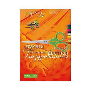 Набор цветной бумаги № 31  А4, 9 листов (двухсторонняя, глазурированная) Альт