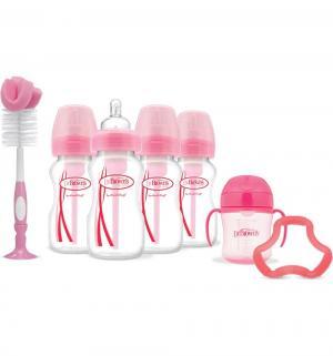 Подарочный набор Dr.Browns 9 предметов полипропилен с рождения, цвет: розовый Dr.Brown's