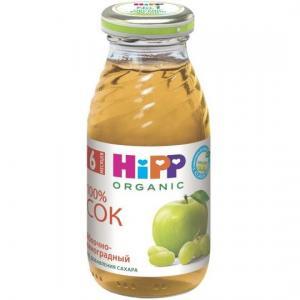 Сок  яблоко-виноград, 200 мл Hipp