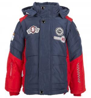 Куртка , цвет: красный/синий Fun Time