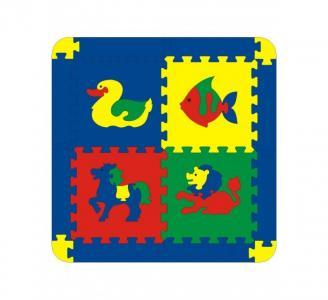 Игровой коврик  с животными 4 детали Флексика