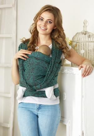 Mums Era Слинг-шарф, цвет: коричневый/зеленый Mum's