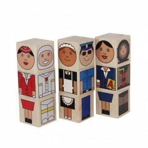 Деревянная игрушка  Кубики Профессии Краснокамская