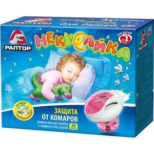 Комплект  Некусайка прибор + жидкость от комаров, 30 ночей Раптор