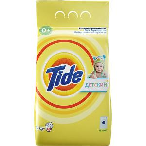 Детский стиральный порошок  Авто 6 кг Tide. Цвет: желтый