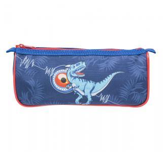 Пенал на молнии  Favorite Soft Collection Wild Dino цвет: синий без наполнения 22.5x7x10 см Tiger
