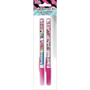 Ручка шариковая LOL 2шт Академия групп. Цвет: разноцветный