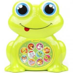 Музыкальная игрушка  Зверята-малышата Лягушонок 14 см Азбукварик