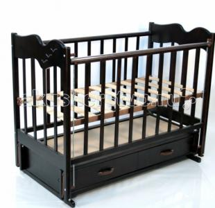 Детская кроватка  Чайка 4 продольный маятник Ведрусс