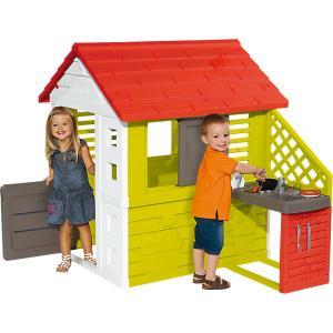 Игровой домик  с кухней, красный Smoby