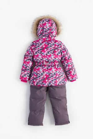 Комплект куртка/полукомбинезон , цвет: розовый/серый Nels