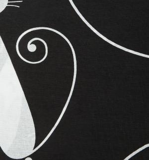 Комплект постельного белья  2-х спальный/нав. 70х70, цвет: белый/черный Василиса