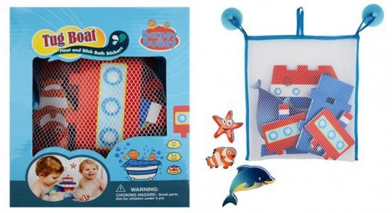 Стикеры для ванны Построй пароходик Barney&Buddy