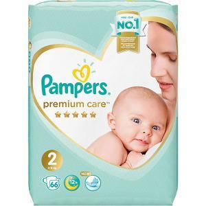 Подгузники  Premium Care 4-8 кг, 66 шт Pampers