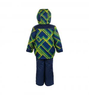 Комплект куртка/полукомбинезон  Гор, цвет: синий/салатовый Oldos