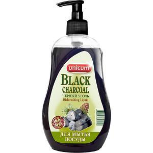Средство для мытья посуды  Чёрный уголь, 550 мл Unicum