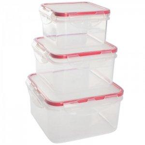 Набор контейнеров для продуктов Clipso Amore квадрат 3 шт. GR1848 Giaretti