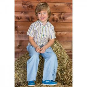 Рубашка детская Озорные Зеленые полоски Frizzzy