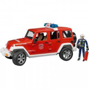Машинка  Пожарный внедорожник Jeep Wrangler Unlimited Rubicon, с фигуркой Bruder