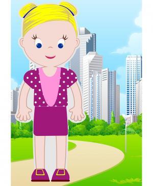 Магнитный набор Маленькие модники Рита Vitamins Baby