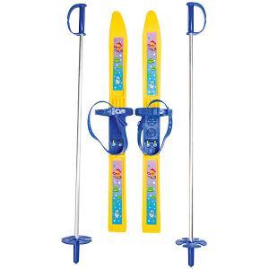 Лыжи с палками Олимпик-спорт Мишки 66/75 см Цикл. Цвет: белый