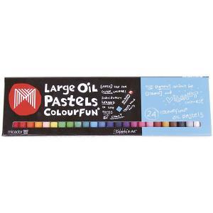 Гипоаллергенные масляные мелки  24 шт, пастельные Micador. Цвет: разноцветный
