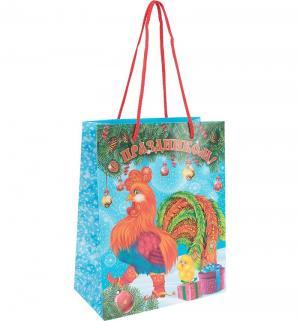Подарочный пакет  Петух, 23 х 18 см Olala